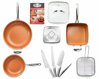 Gotham Steel 11 Piece Nonstick Cookware & Cutlery, Kitchen in a Box Set - New!