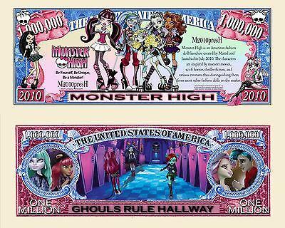 Monster High - Mattel TV Show Character Million Dollar Novelty - Monster High Tv