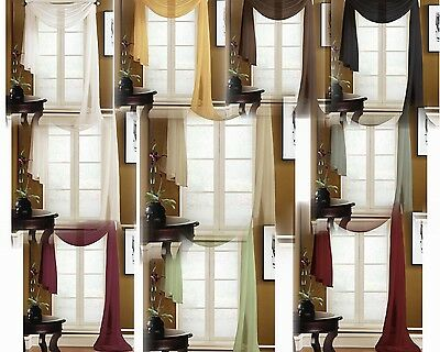 VALANCE SCARF SWAG VOILE SHEER ELEGANT CURTAIN WINDOW DRAPE 35