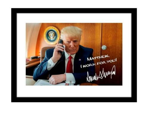 President Donald Trump 5x7 Signed Photo Autographed Customized to YOUR NAME 2020