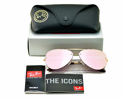 Ray-Ban RB3584N Blaze 9052/E4 Gold Frame/Pink Mirror Lenses Sunglasses (Ray Ban Sunglass Sunglasses)