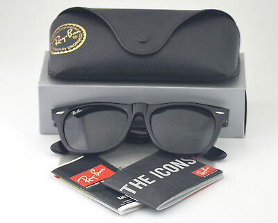 Ray-Ban RB2140 Original Wayfarer Classic 54mm Black Frame/ Green Sunglasses (Original Raybans)