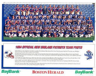 1994 NEW ENGLAND PATRIOTS 8X10 TEAM PHOTO  - Patriots Team Photo