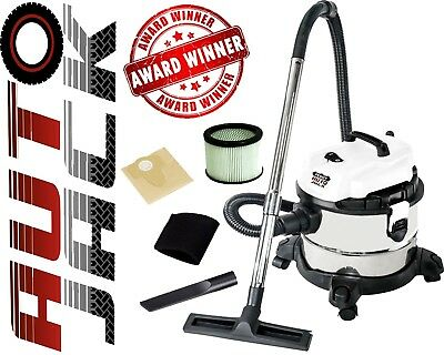 Wet and Dry Vac 20L Stainless Steel Vacuum Cleaner 1200w with HEPA Filter 240v