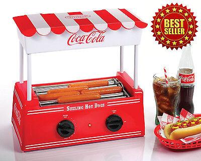 Hot Dog Maker Machine Retro Coke Coca Cola Nostalgia Electric Roller Warmer Bun