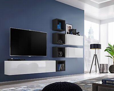 Boise VII - modern entertainment center / modern wall units for
