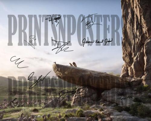 Lion King 2019 11x14 CAST SIGNED REPRINT Poster Disney Simba Mufasa #2