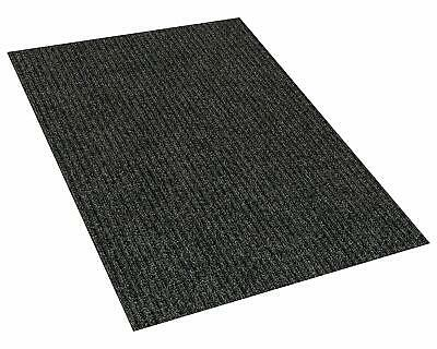 Charcoal Indoor/Outdoor Area Rug Carpet with a Rubber Backin