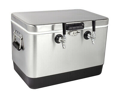 Kegco Jb50-ss-2 50 Liter Single Tap Stainless Steel Jockey Box With 120 Coils