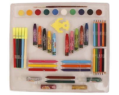 Jumbo Watercolor Set - Camlin Kokuyo Colour Gift Set 10 jumbo oil pastels 10 water color cake Pack Of 1
