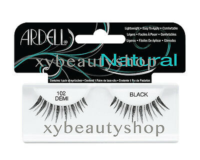 40 Pairs Ardell Natural 102 Demi Fashion Lash Fake Eyelashes Black