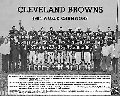 1964 CLEVELAND BROWNS NFL CHAMPIONS TEAM 8X10 PHOTO RYAN BROWN KELLY WARFIELD 2