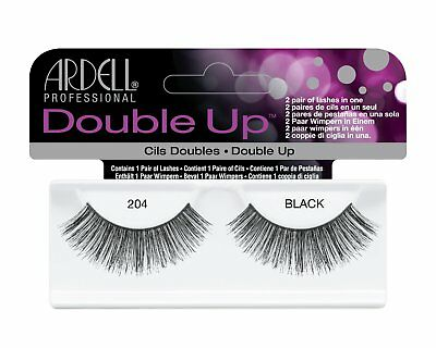 20 Pairs Ardell Double Up 204 Fashion Lash Fake Eyelashes Black 61421