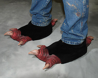 Demon Clawed Feet Vulture Bird Devil Adult Shoe Covers Latex Halloween Costume