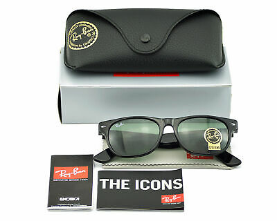 Ray-Ban RB2132 Wayfarer Classic 901 Black Green G15 Unisex Sunglasses (Ray Ban Rb2132 New Wayfarer Sunglasses Unisex)