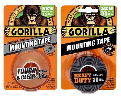 Gorilla Mounting Tape Double-sided Clear Heavy Duty - Combo Pack