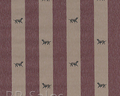 Burgundy Purple Thick Stripe Retriever Dog Man Cave Vtg Double Rolls Wallpaper