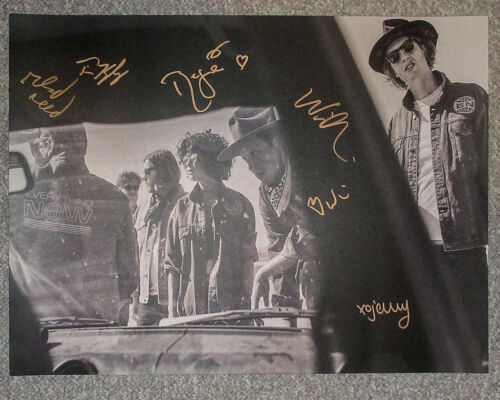 Arcade Fire Full Band Signed 18x24 'Everything Now' Tour Poster JSA Funeral
