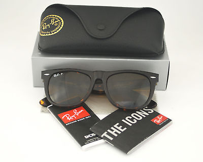 Ray Ban RB2140 Wayfarer 902/57 Tortoise Frame/ Polarized Brown Classic B-15 -