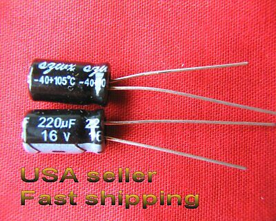 5 Pcs - 220uf 16v 105c Electrolytic Capacitors Free Shipping