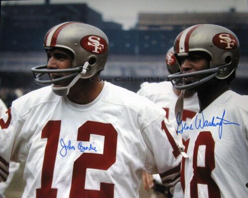 John Brodie Gene Washington San Francisco 49ers Autographed Signed 8x10 Photo