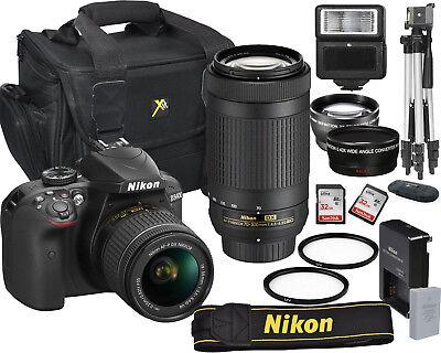NIKON D3400 DIGITAL SLR CAMERA 18-55MM VR + 70-300MM KIT BUNDLE