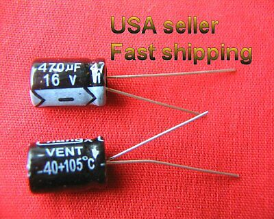 4 Pcs -  470uf 16v  Electrolytic Capacitors. Free Shipping