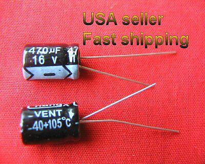 4 Pcs -  470uf 16v  Electrolytic Capacitors. Free Shipping
