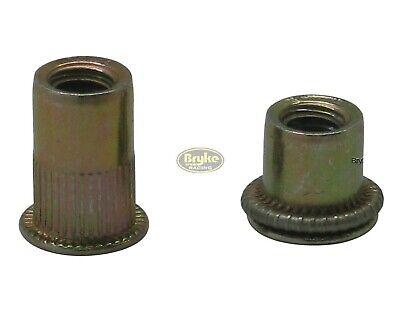 Threaded Insert Metric Rivet Nuts M8 Long 100 Pack Steel Blind Nut Fasteners