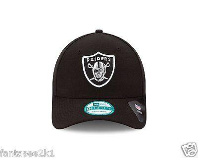 the latest 3ea94 0bd5f Oakland LA Raiders New Era 9Forty Vintage Black The League Strap Back Hat  NFL