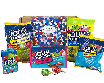Jolly Rancher American Candy Gift Box - Hard Candy, Chews, Gummies, Bites & More