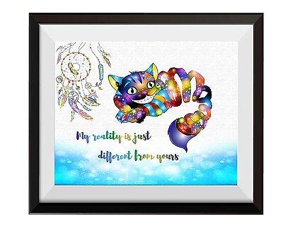 Uhomate Alice in Wonderland Cheshire Cat Artwork Print Nursery Wall Decor C022