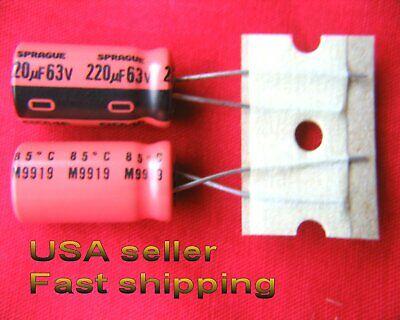 12 Pcs - 220uf 63v Electrolytic Capacitors Sprague