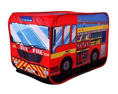 Fire Engine Truck Pop-up Vehicle Pretend Fire Fighter Play Tent Kids Playhouse