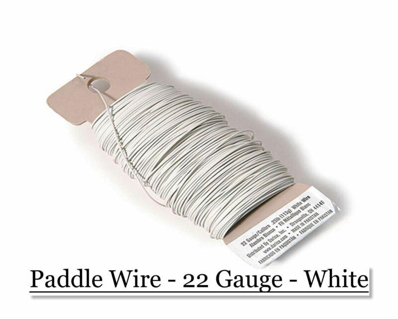 Paddle wire 22ga - White