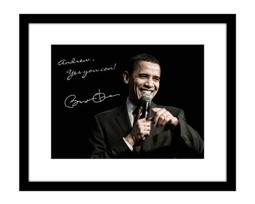 Personalized Barack Obama 8x10 Signed Photo Print Autographed YOUR name custom