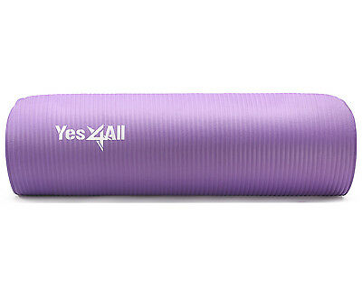 Yes4All NBR Yoga Mat 10 mm Extra Thick Pad Non Slip 68 x 24 - ²WLEGF