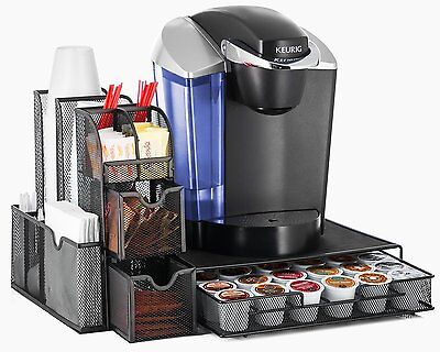 Halter All In One Mesh Coffee Organizer,Condiment Caddy Organizer&Heat Resistant