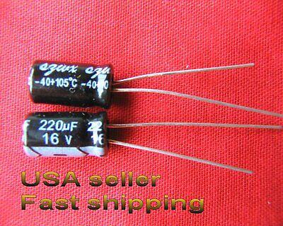 12 Pcs - 220uf 16v 105c Electrolytic Capacitors