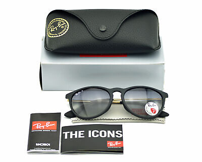 Ray-Ban RB4171 ERIKA Polarized 245/T3 Black Gold Grey Gradient Sunglasses (Ray Ban Sunglasses Erika Polarized)