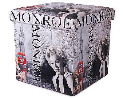 Polsterhocker Marilyn Monroe Hocker Sitzhocker faltbar Aufbewahrungsbox Truhe