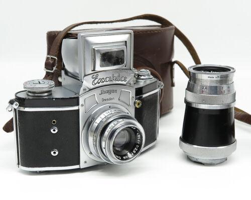 Ihagee Kine Exakta Ver.4 w/Zeiss and Schneider lenses - Case - Fine vintage cond