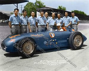 BILL VUKOVICH 1955 INDY 500 AUTO RACING 8X10 PHOTO