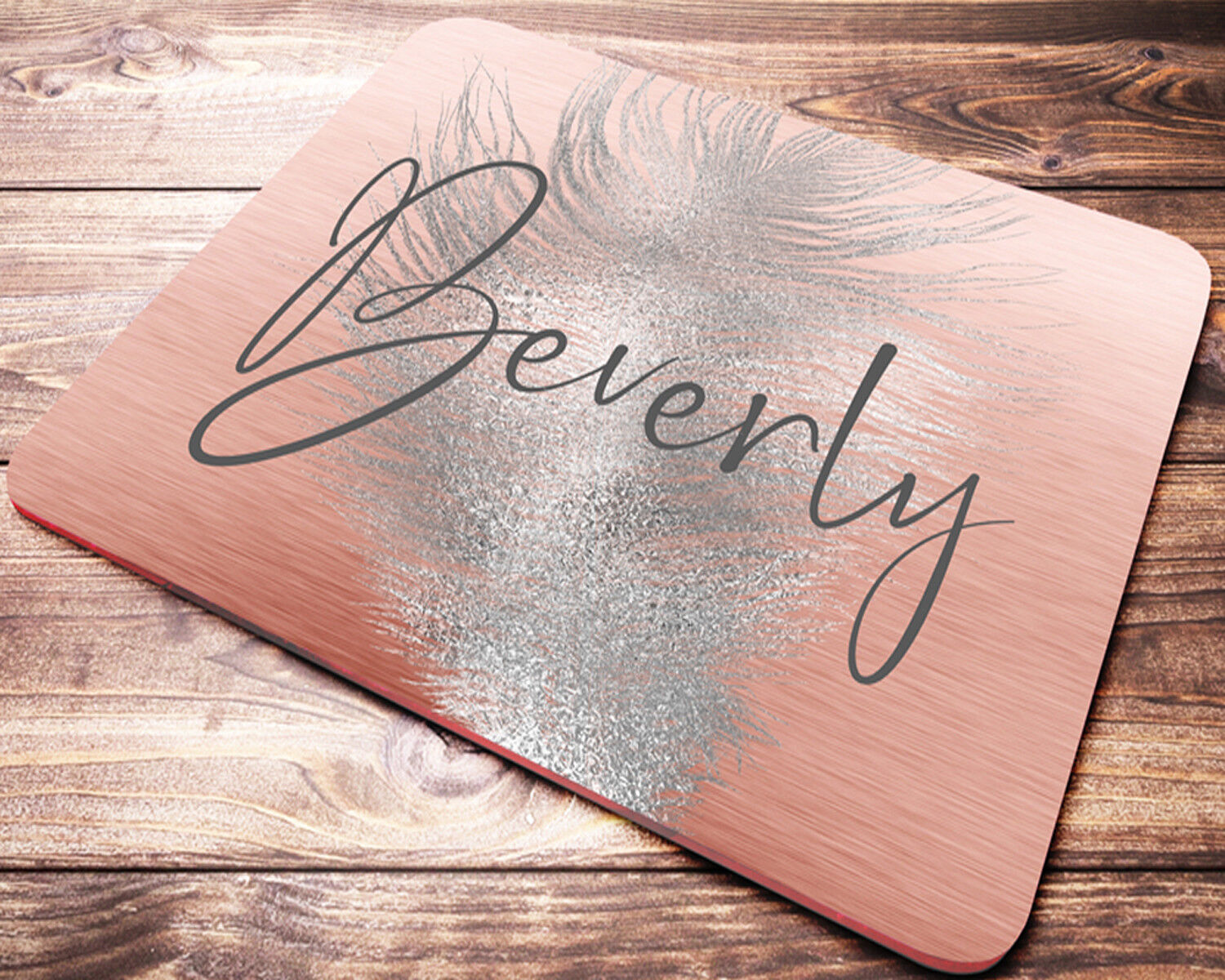 Personalized Rose Gold Mouse Pad Desk Accessories For Women