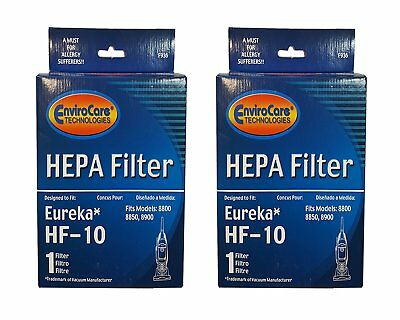 - 2 Eureka 63347B, 63347, F936, Type HF10, Capture Upright Bagless Vac Hepa Filter