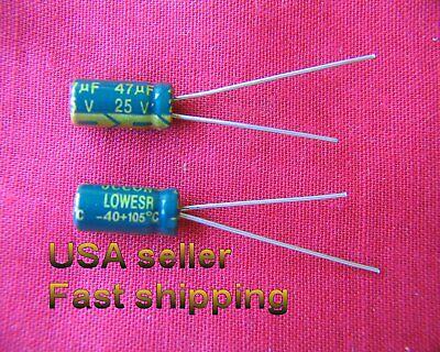 4 Pc - 47uf 25v Low Esr Electrolytic Capacitors Free Shipping L