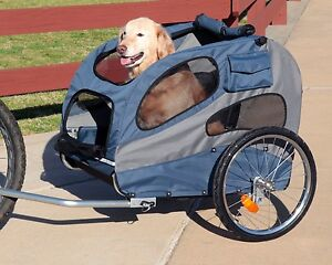 HoundAbout-Pet-DOG-Bicycle-BIKE-TRAILER-Carrier-LARGE