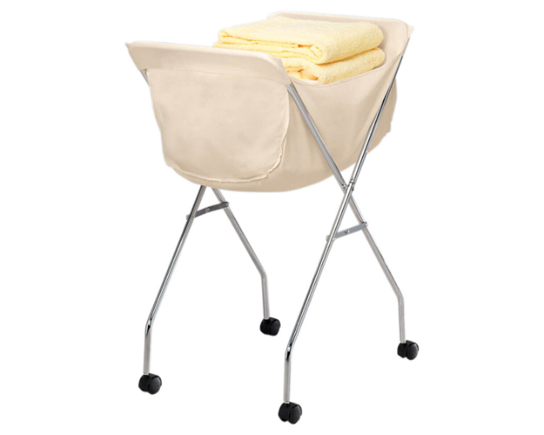 Rolling Laundry Folding Cart Basket Wheels Hamper Lightweigh