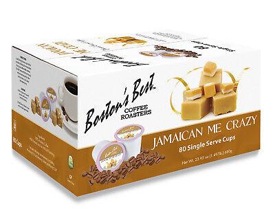 Boston's Best Single Serve K-Cup Coffee, Jamaican Me Crazy, 80 Count (Best Single Serve Coffee)