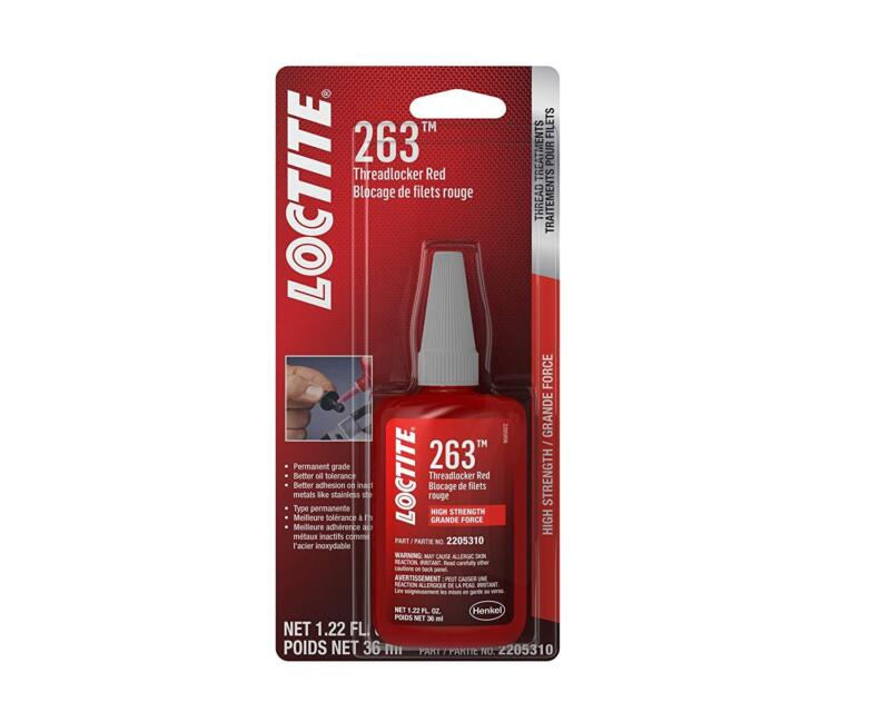 Loctite 2205310 263 Threadlocker Surface Insensitive (Red, 36 ml Bottle)